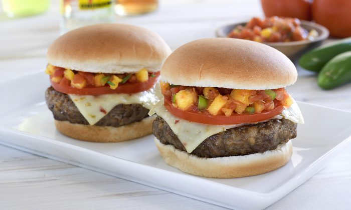 Salsa Sausage Burgers