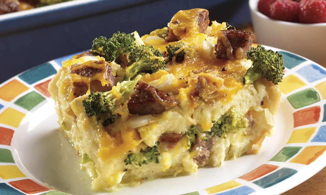 Sausage & Cheese Omelet Bake Recipe - Owens Sausage