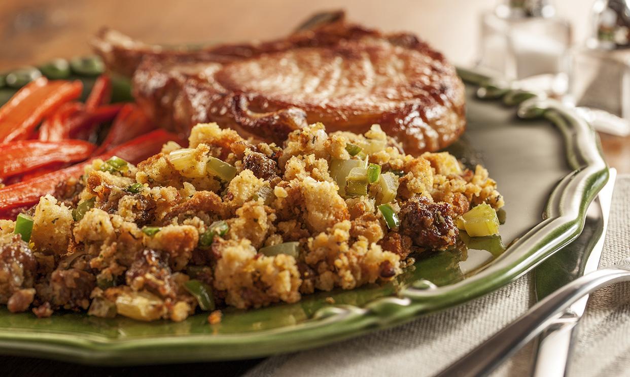 Sausage and Jalapeno Cornbread Stuffing