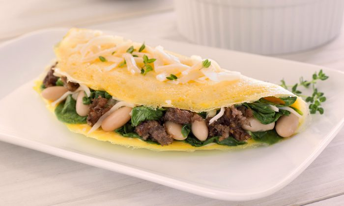 Sausage and Spinach Omelet