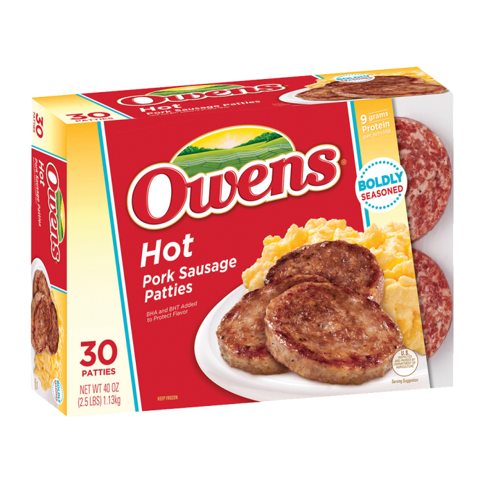 Owens® Frozen Pork Breakfast Sausage Hot 40 oz