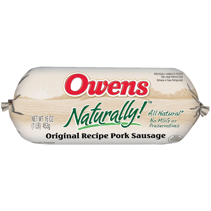 Owens® Naturally Regular Sausage 16 oz