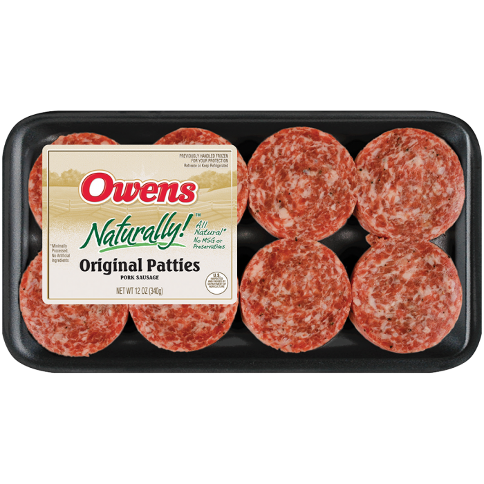 Owens® Naturally Original Sausage 12 oz